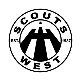 mark for SCOUTS WEST EST. 1987 IH, trademark #85749686