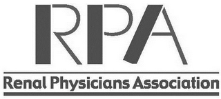 mark for RPA RENAL PHYSICIANS ASSOCIATION, trademark #85750039