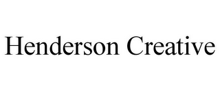 mark for HENDERSON CREATIVE, trademark #85750093
