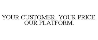 mark for YOUR CUSTOMER. YOUR PRICE. OUR PLATFORM., trademark #85750484