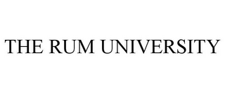 mark for THE RUM UNIVERSITY, trademark #85751518