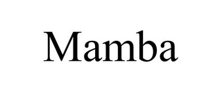 mark for MAMBA, trademark #85751949