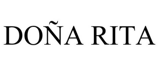 mark for DOÑA RITA, trademark #85752530