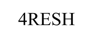 mark for 4RESH, trademark #85752708