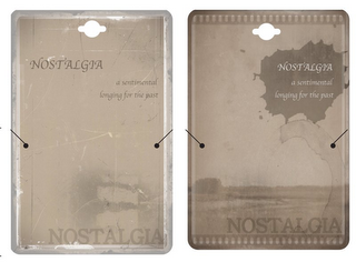 mark for NOSTALGIA A SENTIMENTAL LONGING FOR THE PAST NOSTALGIA, trademark #85753023
