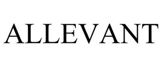mark for ALLEVANT, trademark #85753201