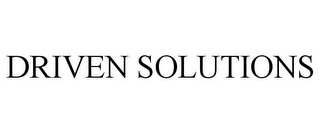 mark for DRIVEN SOLUTIONS, trademark #85753315