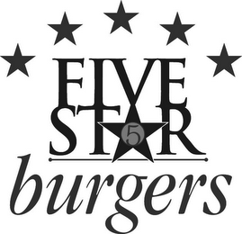 mark for FIVE STAR BURGERS 5, trademark #85753506