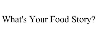 mark for WHAT'S YOUR FOOD STORY?, trademark #85753915