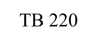 mark for TB 220, trademark #85754210