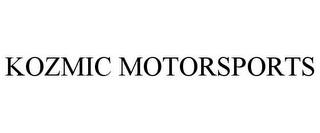 mark for KOZMIC MOTORSPORTS, trademark #85754510