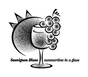 mark for SAUVIGNON BLANC SUMMERTIME IN A GLASS, trademark #85754541