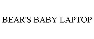 mark for BEAR'S BABY LAPTOP, trademark #85755921