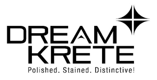 mark for DREAMKRETE POLISHED. STAINED. DISTINCTIVE!, trademark #85756051