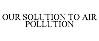 mark for OUR SOLUTION TO AIR POLLUTION, trademark #85756598