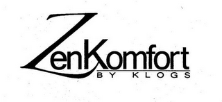 mark for ZEN KOMFORT BY KLOGS, trademark #85756600