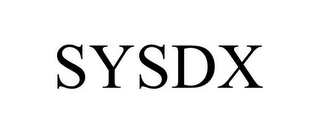 mark for SYSDX, trademark #85756700