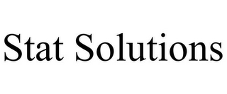 mark for STAT SOLUTIONS, trademark #85756990