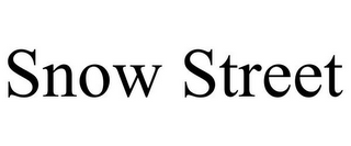 mark for SNOW STREET, trademark #85757135