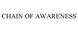 mark for CHAIN OF AWARENESS, trademark #85757201