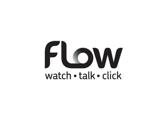 mark for FLOW WATCH · TALK · CLICK, trademark #85757527