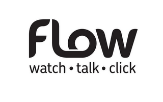 mark for FLOW WATCH · TALK · CLICK, trademark #85757594