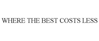 mark for WHERE THE BEST COSTS LESS, trademark #85757771