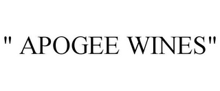 "mark for "" APOGEE WINES"", trademark #85757970"