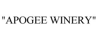 "mark for ""APOGEE WINERY"", trademark #85757994"