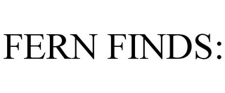 mark for FERN FINDS:, trademark #85758161