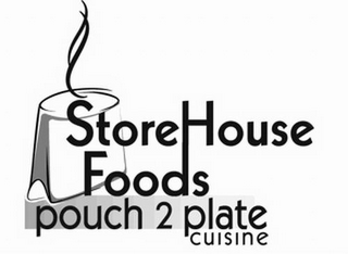 mark for STOREHOUSE FOODS POUCH 2 PLATE CUISINE, trademark #85758346
