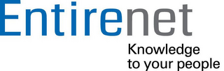mark for ENTIRENET KNOWLEDGE TO YOUR PEOPLE, trademark #85760320