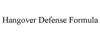 mark for HANGOVER DEFENSE FORMULA, trademark #85760350