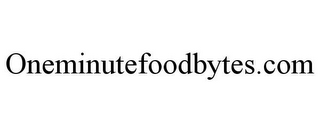 mark for ONEMINUTEFOODBYTES.COM, trademark #85760458