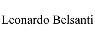mark for LEONARDO BELSANTI, trademark #85760484