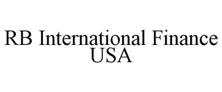 mark for RB INTERNATIONAL FINANCE USA, trademark #85760924
