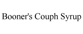 mark for BOONER'S COUPH SYRUP, trademark #85761120