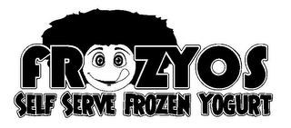 mark for FROZYOS SELF SERVE FROZEN YOGURT, trademark #85762086