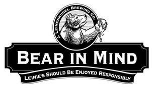 mark for BEAR IN MIND LEINIE'S SHOULD BE ENJOYED RESPONSIBLY J. LEINENKUGEL BREWING CO., trademark #85762244