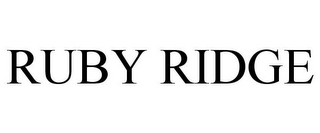 mark for RUBY RIDGE, trademark #85762591