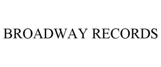 mark for BROADWAY RECORDS, trademark #85762601