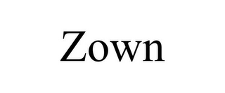 mark for ZOWN, trademark #85762723