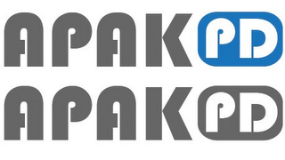 mark for APAK PD APAK PD, trademark #85762961