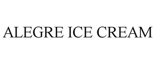 mark for ALEGRE ICE CREAM, trademark #85763022