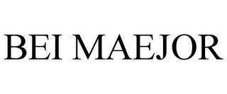 mark for BEI MAEJOR, trademark #85763247