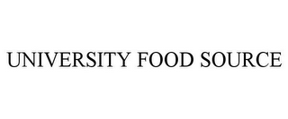 mark for UNIVERSITY FOOD SOURCE, trademark #85763475