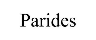 mark for PARIDES, trademark #85763712