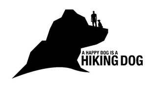 mark for A HAPPY DOG IS A HIKING DOG, trademark #85764038