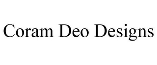 mark for CORAM DEO DESIGNS, trademark #85764114