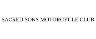mark for SACRED SONS MOTORCYCLE CLUB, trademark #85764485